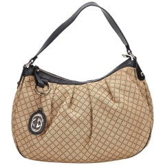 Gucci Brown x Black Diamante Sukey Shoulder Bag