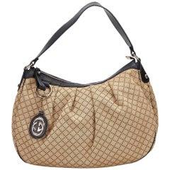 Gucci Brown x Black Diamante Sukey Shoulder Bag