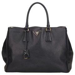 Prada Black Saffiano Leather Galleria Bag