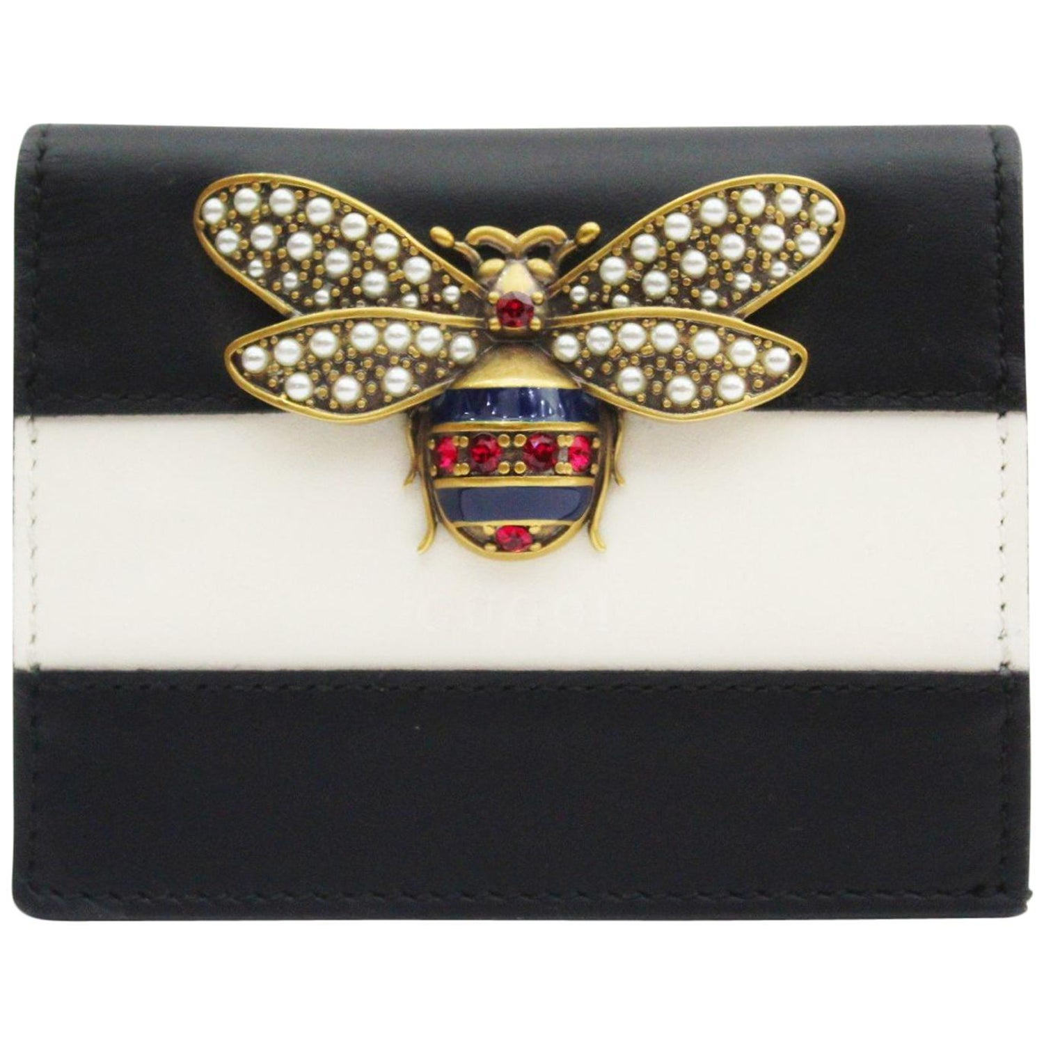 ee1ad413bca Gucci Queen Margaret leather card case
