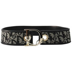 Dior Logo Belt leather and canvas