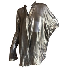 Haider Ackerman Bronze Oversize Blouse or Shirtdress