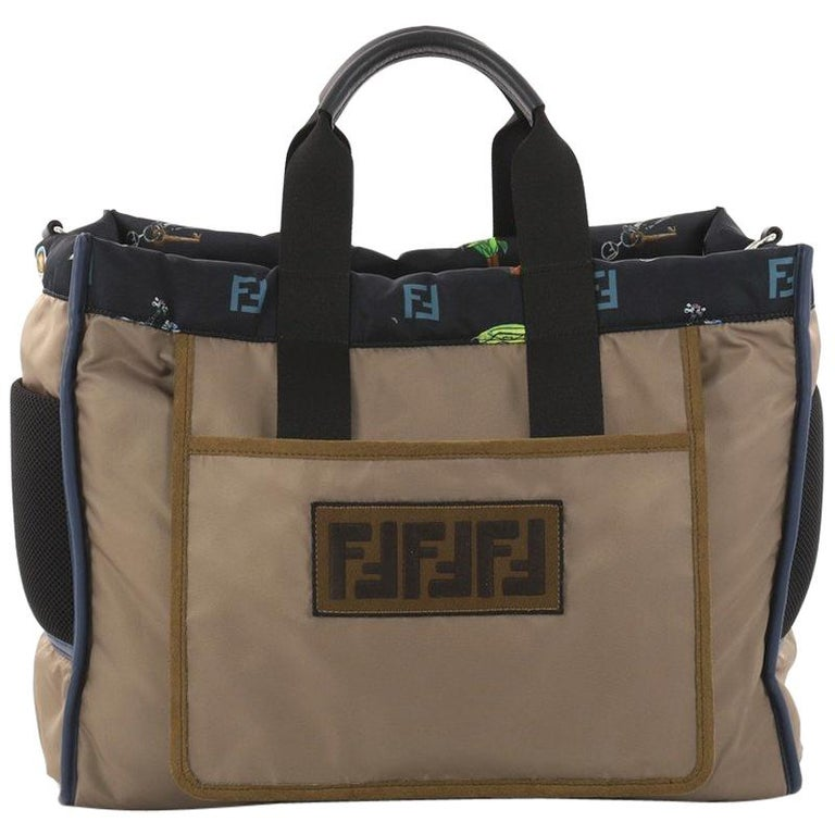 caac0b5ba5 Fendi Reversible Tote Printed Nylon Large For Sale at 1stdibs