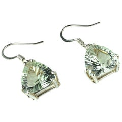 Brilliant Green Prasiolite Earrings
