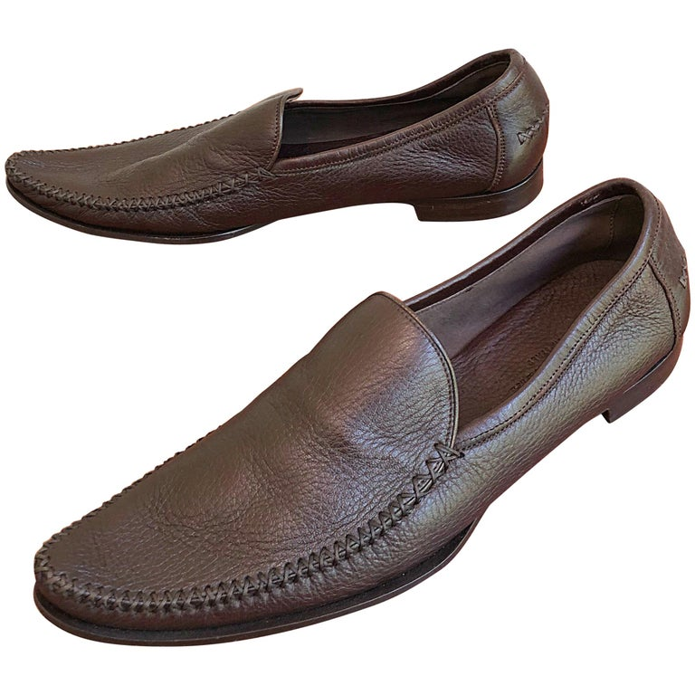 bd143e1355f Bottega Veneta Size 38.5   8.5 Chocolate Brown Women s Flats Loafers Shoes  For Sale