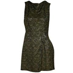 Olive Green Roland Mouret Mini Dress