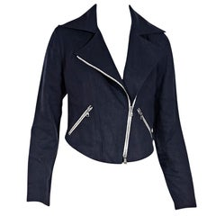 Navy Blue Veronica Beard Linen Jacket
