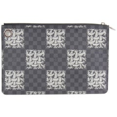 Men's Louis Vuitton Collectible Damier Graphite Cristopher Nemeth Clutch