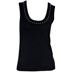 Black Givenchy Studded Knit Top