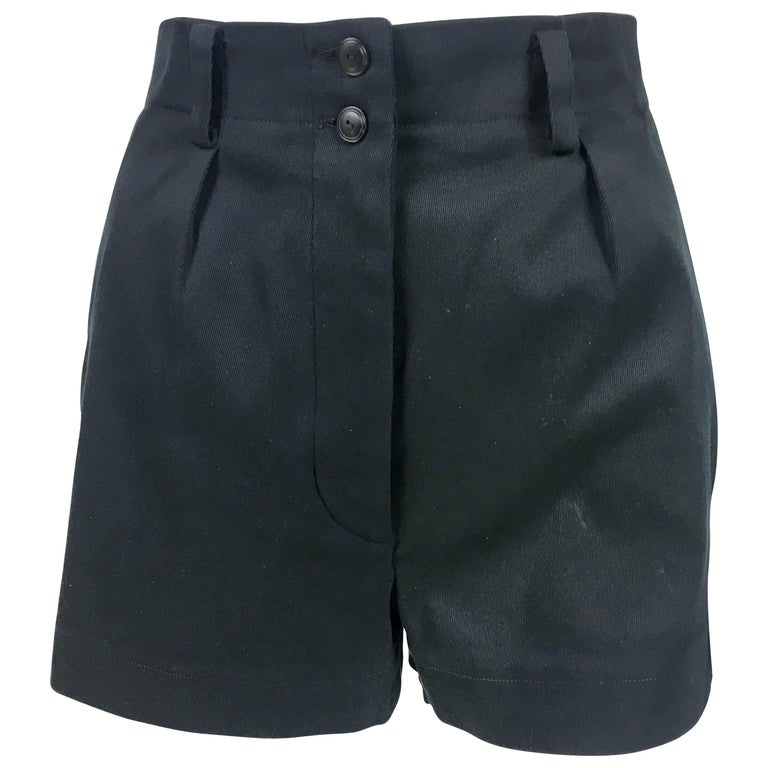 1990's Azzedine Alaia Black Tailored Shorts For Sale