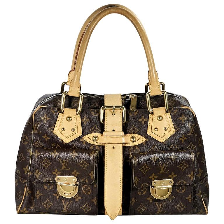 Louis Vuitton Brown Monogram Manhattan GM Bag For Sale