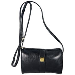 Black MCM Leather Crossbody Bag
