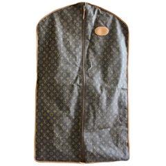 Vintage Louis Vuitton Garment Bag Monogram Canvas & Leather Travel Bag Luggage
