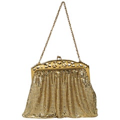 Goldtone Vintage Whiting & David Mesh Evening Bag