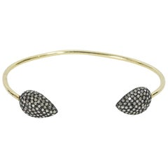 Jennifer Miller Gold tone Diamond-End Cuff