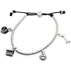 Four Charms Sterling Silver Dog Fever Milano Bracelet