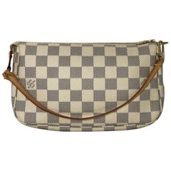 Louis Vuitton Damier Azur Pochette Accessories Wristlet Handbag