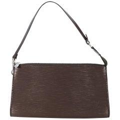 Louis Vuitton Brown Epi Leather Pochette Bag