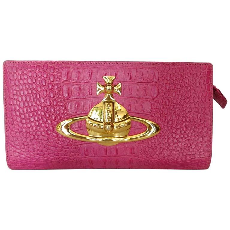 Vivienne Westwood Classic Pink Orb Clutch Bag