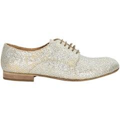 Maison Martin Margiela Silver Glittered Oxford Shoes
