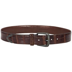 Brown Polo Ralph Laurent Alligator Belt
