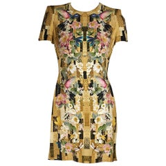 Multicolor Alexander McQueen Printed Mini Dress