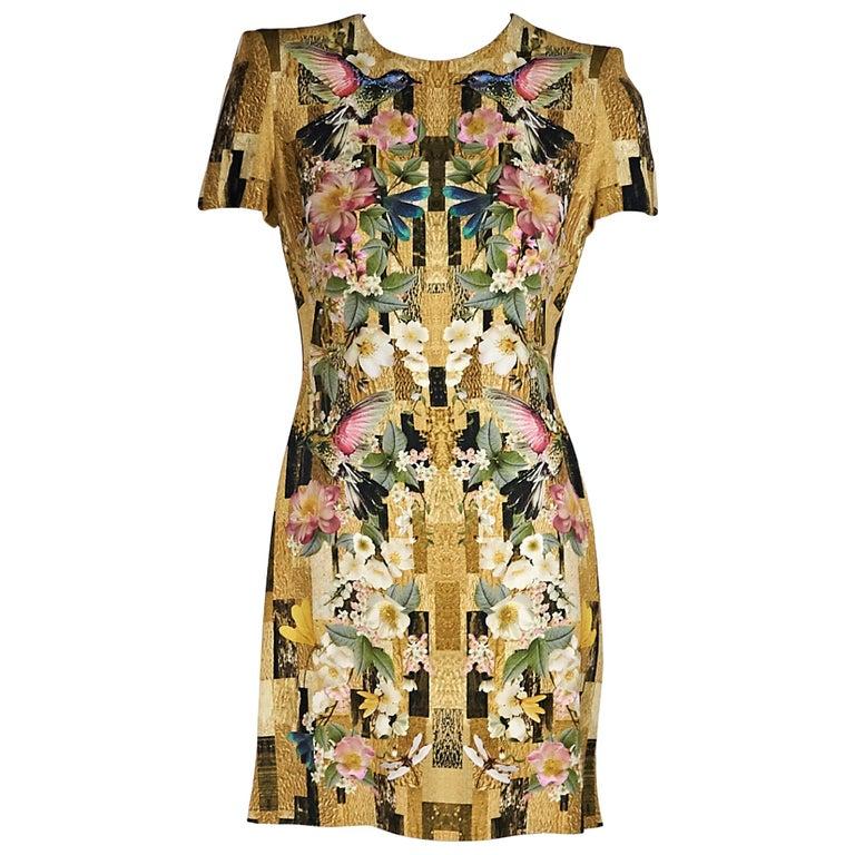 Multicolor Alexander McQueen Printed Mini Dress
