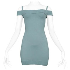 Azzedine Alaia  Vintage Seafoam Mini Dress, 1992