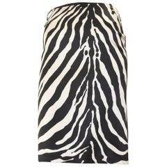 Dolce & Gabbana Zebra print Jean Skirt