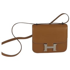 Hermes Constance Handbag Mini Sable Natural Butler PHW