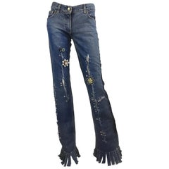 Dolce & Gabbana Safety Pin Jeans Spring Runway 2001
