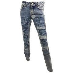 Saint Laurent 2014 Denim Patchwork Jeans