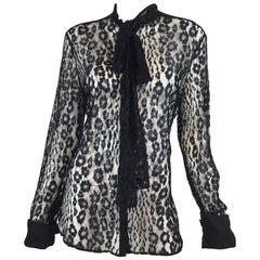 Tom Ford Lace Pussy Bow Blouse