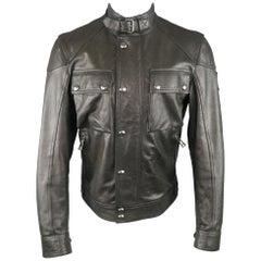 BELSTAFF 38 Black Leather Racemaster 'Gangster 2.0' Leather Jacket / Coat