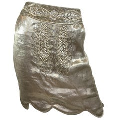 Ralph Lauren Collection Lamé Embellished Skirt