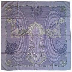 "Hermes Lace Design Scarf ""Doigts de Fee"" in Original Box 90cm"