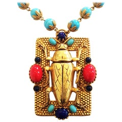 Askew of London Egyptian Revival Pendant Necklace