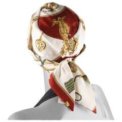 Hermes Paris Vintage Silk Turban Hat Les Clefs by Cathy Latham