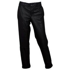 Vince Black Leather Pants sz 10 NWT rt. $1,095