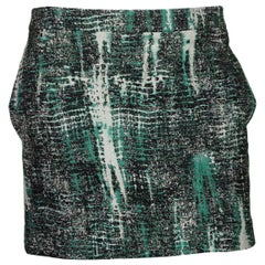 Stella McCartney Green and Black Mini Skirt