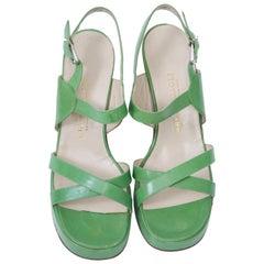 1970s Bruno Magli Platform Sandals