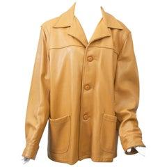 Men's Luggage Leather Jacket