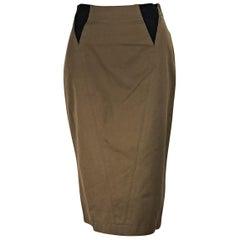 Olive Green Vintage Alaia Pencil Skirt
