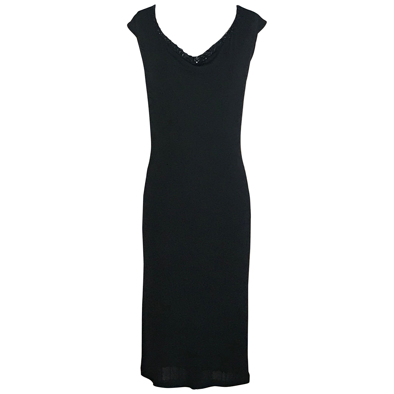 Jean Paul Gaultier Snap Detail Little Black Jersey Dress
