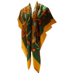 Hermès Cachemire Shawl 140 or 55 Monsieur & Madame By Bali Barret / Brand New