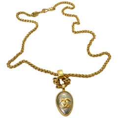 Chanel 1990s Gold Plated Silver Pendant Necklace (1997 A)