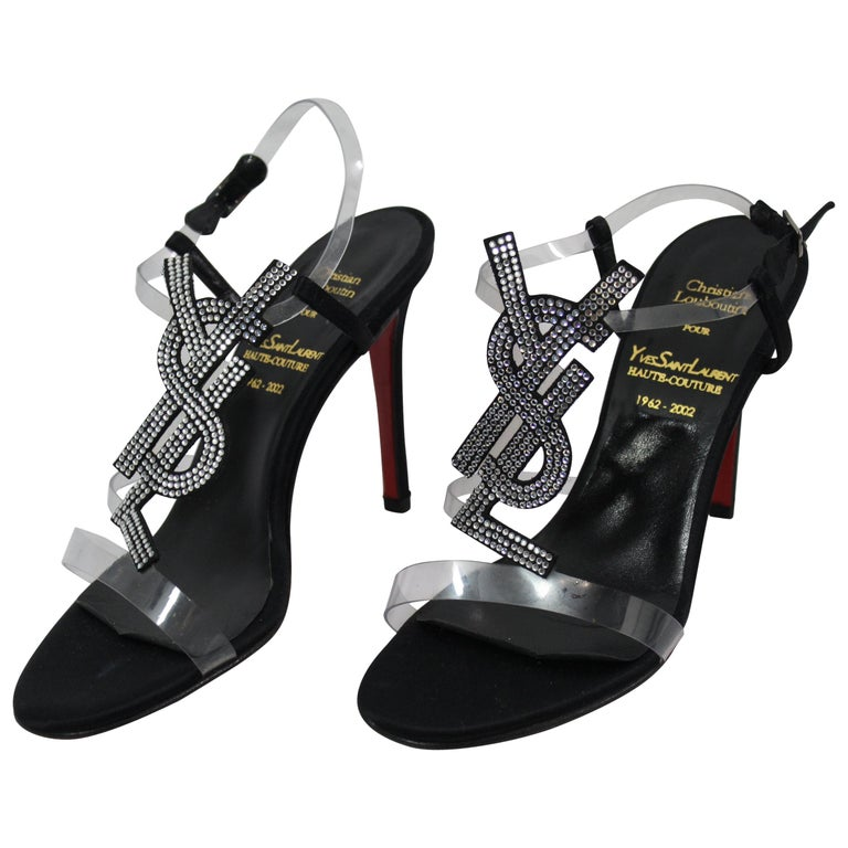 Haute Couture Christian Louboutin for Yves saint Laurent Shoes. Size 35 For Sale