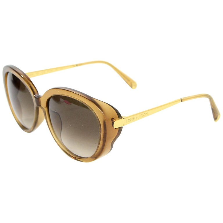 8fe9da8995db Louis Vuitton Honey Glitter Acetate Bluebell Sunglasses with Case For Sale