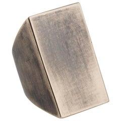 Metallum Modernist Bronze Rectangle Statement Ring