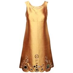 Miu Miu Gold Party Dress